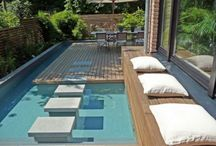 small backyard pool ideas / by Amy Higgins-Margalli