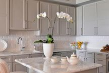 Taupe Coloured Kitchens