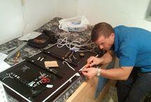Instalación tiras led en TV / Instalación de tiras led en la trasera de un televisor.