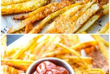 French Fries, Fried Chicken, Croquettes, Fritters, Oven Fried, and Fried Fried