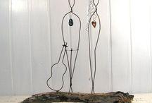 Sculptures sur fil