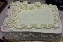 wedding anniverary sheet cakes | Elegant Anniversary Sheet Cake
