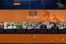 Professional Athlete Website Designs