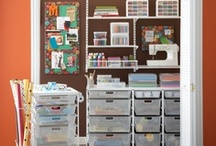 craft closet / by Angie Mcclain
