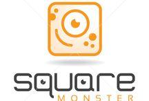Monster Logo's for Sale by LogoMood.com Melanie D / LogoMood.com - Melanie D's monster logo design
