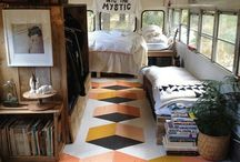 VW buses, campers, caravans, tiny houses