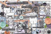 Bad Mood scrapbooking supplies / Digital scrapbooking supplies with a bad mood theme