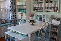 "Favorite Craft Room Nooks & Crannies  / Things and Ideas I'd love to incorporate into my ""dream crafty spaces"" :)"