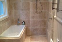 Bathroom ideas / Shower and bath together but separate.