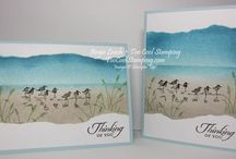 Stampin Up Wetlands / Ideas for creating cards using the Wetlands stamp from Stampin Up
