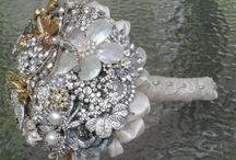 Wedding Bouquet Inspiration / Wedding bouquets made from brooches, pins, and rhinestones - beautiful!