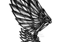 Flügel-Tätowierungen