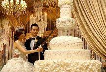 Gâteau de mariage immense
