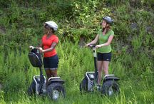 Mountain Segways / Ride into adventure through the Pocono Mountains on one of our Segways! Jump aboard our fleet of gnarly all-terrain, Mountain Segways, and get ready for a forest tour you'll never forget.