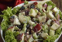 Ensaladas y verduras salteadas
