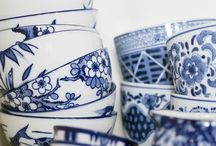 Cups & Plates / Cups and plates, porcelain, table ware, silver, vases, blue&white