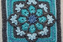 Granny squares and african flowers
