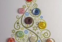 Χριιστουγεννιάτικες κατασκευές με κουμπιά