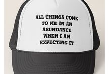 "Truckers Caps Just Words Quotes by Kat Worth / Quotes on truckers caps from Kat Worth's ""Just Words"" Store Adjustable from 17"" to 24"" 100% polyester foam front 100% nylon mesh back keeps you cool Available in 12 colors, for men or women. Just Word Quotes by Kat Worth ©"