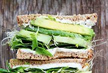 Vegan Lunch / salads & bagels