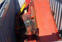 Load container 20´ open top / Load container of knuckle boom crane