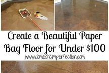 Flooring Ideas / I like clever flooring. I'm always dreaming up ideas for renovations, making better uses of existing spaces, and redoing floors on the cheap. jessconnell.com