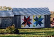 Barn Quilts! / I would love to have a barn!  And I especially love 'quilt barns' (or is it 'barn quilts'?) - on a recent Oregon trip I saw several of these so I had to google them:  What is a quilt barn? A quilt barn is a barn or other farm building that displays a quilt square.  Often these barns are very old and have historical or landmark significance in the area.  ...