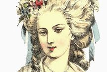 Old Time Hairstyles / Hairstyles from the 1700 and 1800s.