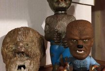 Collecting The Wolf Man / The Wolf Man is one of Universal Studios' classic monsters and a favorite of monster merchandise collectors everywhere.  This post features Wolf Man and werewolf memorabilia and collectibles, vintage and modern, from every category