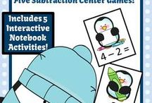 Math Centers / Math Center Game Resources for the Kindergarten to Sixth Grade Elementary School Teachers. / by Fern Smith