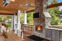 Decoration / Garden fireplace
