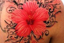 tattoos for women flower hawaiana