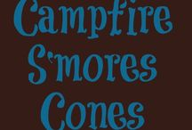 S'mores Recipes / S'more shakes, s'more sandwiches, s'more cones, s'more cakes, s'more pies, s'mores pudding, and everything else you can think of s'mores.
