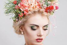 Styled shoot - flower hat