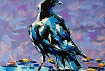 Crows and Ravens / Paintings of crows and ravens