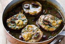Kødretter - mad med kød / Blandede retter med kød, hvad enten det er svinekød, fjerkræ, lam, okse etc.