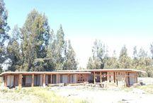 casa de vigas de madera.