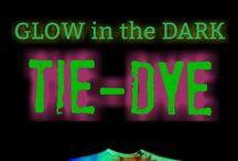 glow in dark tie dye