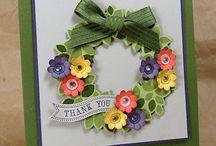 Stampin Up wonderous wreath