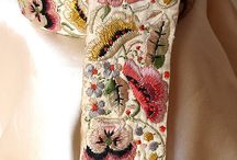 Embroidery ~ Embellishments ~ Crazy Quilting / See also ribbon embroidery, stumpwork, ribbonwork, quilting, jewelry, buttons... / by Katherine Smith