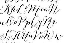 calligraphy/hand lettering