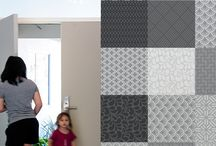 Blik Pattern Wall Tiles / Pattern Wall Tiles by BLIK bring bursts of pattern into standard home and office spaces in a whole new way. With Pattern Wall Tiles, you can create an accent over a bed, on an interior door or frame a small section of a wall. The tiles are self-adhesive and can be repositioned and moved easily.  These self-adhesive fabric wall tiles are eco-friendly, non-toxic and free of both PVC and phthalates. / by Blik Surface Graphics