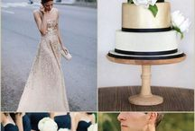 Navy and gold wedding palette / Wedding color story: navy and gold
