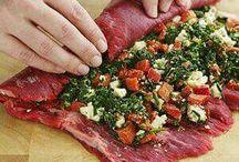 rollo de carnes con verduras