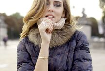 "Chiara Ferragni for Peuterey #2 / Through the street of Paris, the IT blogger #ChiaraFerragni from #TheBlondeSalad shows you how to wear the new #Peuterey ""Duane Camo Fur"" duvet"