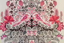 Johanna Bradford colouring ideas