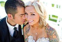 """Spose tatuate / Chi l'ha detto che il giorno del grande """"sì"""" non si possano mettere in mostra i tatuaggi?"""