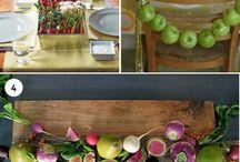 Vegetables as Decor