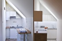 kitchenette / author: Karolina Przybyła /  location: Gliwice, Poland /  area: 3m2 /  investor: private /  realization: 2014 /  photos: Piotr Klubiński /   The metamorphosis of the kitchenette in the attic with an area of 3m2. The minimalist interior, through its simplicity and austerity, becomes universal and timeless; fitting at the same time all kitchen minimum.