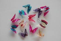 Butterflies pins and hair clips/ Mariposas en prendedores y trabas para el cabello / Mane (horse hair) handmade accesories.